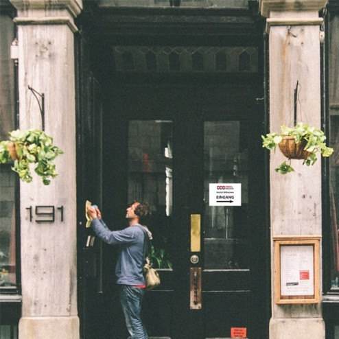 Schild Eingang A4